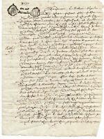 1680 LOUIS XIV royal notary autograph manuscript letter