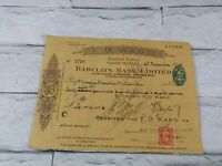 Vintage ww2 Rare Document 31.12.1942 British Christmas, New year bank bill retro