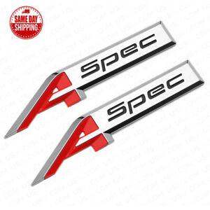 For Acura Aspec A Spec Fender Marker Badge Logo Sport Emblem Nameplate Chrome