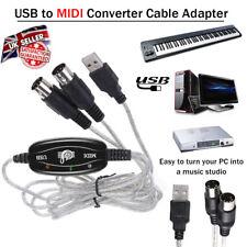 Laptop Converter USB to Midi Adapter Piano Music Keyboard Cable Interface UK