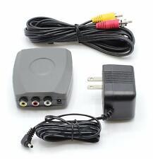RCA To Coaxial Converter Composite AV to RF Modulator DVD to NTSC TV Adapter New