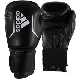 Adidas Speed 50 Boxing Gloves Black White 10oz 12oz 14oz Adult Sparring Gloves