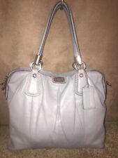 Coach Kristin Pleated Gray  Leather Satchel Shoulder Handbag 15339