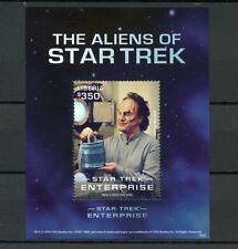 Liberia 2016 MNH Aliens of Star Trek 1v S/S Enterprise Doctor Phlox Stamps