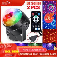2X Lichteffekt LED Bühnenbeleuchtung Discokugel DJ Party RGB laserLicht Club EU