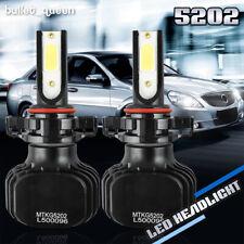 Fanless 5202 9009 H16 2000W 300000LM LED Fog Lights Headlight Kit Hi Lo 6000K US