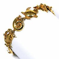 "Gold Armband mit Diamant ""Meerestiere"" Gliederarmband 585 Gold Bracelet"