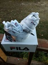 FILA DISRUPTOR II WHITE / NAVY / RED 7FM00038-125 TODDLERS SIZE 6 NWB and Tags