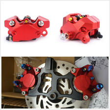Motorcycle Bike Red Aluminum Alloy Brake Caliper with Pads P2*34mm 84mm Mounting