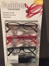 Reading Glasses +175 +1.75 Fashion Collection Readers Glasses 3 Pack Sale