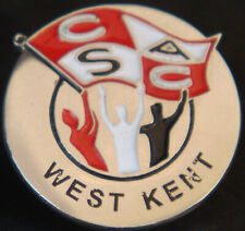 More details for charlton athletic vintage supporters club west kent badge stud fitting 22mm dia
