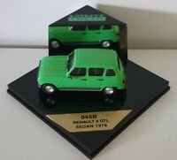1:43 Scale Vitesse 1978 Renault 4 GTL Sedan - Green - 045B
