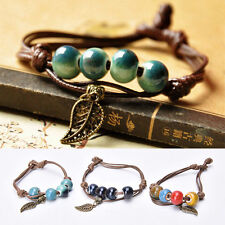 Fashion Ethnic Original Ceramic Bronze Handmade Bangle Bracelets Girl Gifts LY