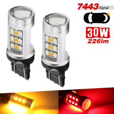 7443 Red/Yellow Amber Dual Color Switchback 33-LED Front Turn Signal Light Bulbs