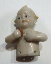 Demi-Figurine Ancienne en Porcelaine Bébé Enfant Half-Doll #3