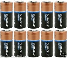 10 x Duracell DL123A Ultra Lithium CR123A Batteries