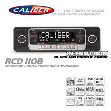 Retro Radio Autoradio KFZ Classic Oldtimer Youngtimer USB SD CD MP3 Aux In Black