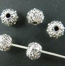 100pcs Tibetan Silver Nice Bail Style Spacer Beads 6.5x5.5mm 9386