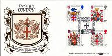 17 de enero de 1984 heráldica Benham BLS 1 primer día cubierta de Londres CE Shs