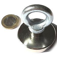 Super Magnete al Neodimio OTN-50 POTENZA 75 Kg CON OCCHIELLO IN ACCIAIO ZINCATO