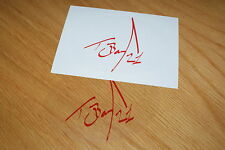 Troy Bayliss Signature Sticker - Red