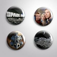 4 SPACE 1999 MOONBASE ALPHA EAGLE -Pinbacks Badge Button 25mm 1''