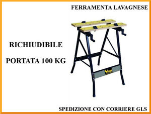 Banco da lavoro richiudibile in Acciaio e legno Vigor Vbl-100 56x62x76H