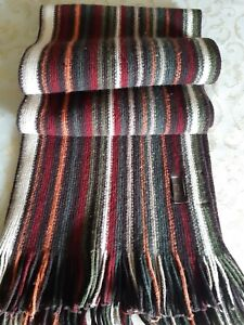 Sciarpa unisex in misto lana TRUSSARDI CM.25 X 180.Made in Italy
