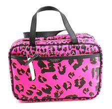 NEW Victorias Secret Pink Leopard Hanging Travel Case Beauty Makeup Cosmetic Bag