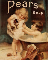 Pears Soap Puppy - VINTAGE ADVERTISING ENAMEL METAL TIN SIGN WALL PLAQUE