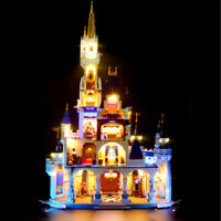 ONLY Remote LED Light Lighting Outlets Kit For LEGO 71040 For Disney Castle *