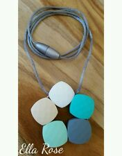 Silicone Necklace Fashion Jewellery Girls Womens Non-toxic Breakaway Clasp Wash