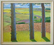 Unbek. Impressionist »Weite sonnige Landschaft« sig. Jens Ask ???