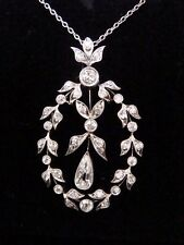 EDWARDIAN PLATINUM DIAMOND LAVALIERE 2.30CT. STUNNING. ORIGINAL