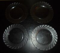 """(4) Arcoroc CLEARBROOK 8"""" Salad Plates"""