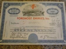 Foremost Dairies, Inc. Stock Certificate-100 Shares