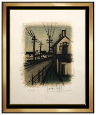 Bernard Buffet Original Color Lithograph Hand Signed Modern Landscape Framed Art