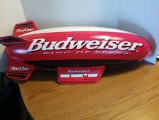 (Vtg) 1990s Budweiser vacuform plastic Blimp Airship light up sign rare mint
