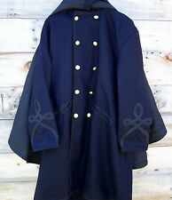 Civil war union federal general double breasted cloak coat pleated with cape  52