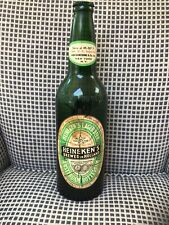 New listing Vintage Old Front Label. Huge 18.5 Inch Heineken Beer Bottle Advertising Display