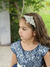 Crystal Wedding Hairpiece, Flower Girl Headband, Rhinestone Bridal Headband,