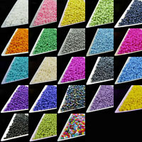 1600Pcs Colorful Glass Seed Loose Spacer Beads Necklace Jewelry Making Craft 2MM