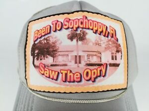 Been to Sopchoppy Florida Hat Cap Saw The Opry Patch Youth Gray Snapback Trucker