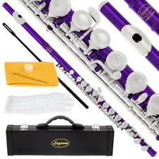 Lazarro® Closed Hole C Flute,Split E+Case,Kit~4 School,Students,Band~22 COLORS
