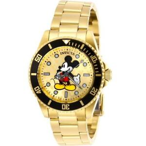 Invicta Disney Limited Edition 29673 Gold Tone Women's Round Mickey Mouse Watch