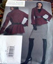 NEW JACKET & SKIRT VOGUE DESIGNER ANNE KLEIN Sewing Pattern 14-16-28-20 UNCUT