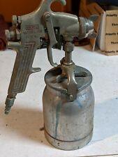 Vintage Binks Model 69 Automotive Sray Paint Gun And With Cannister