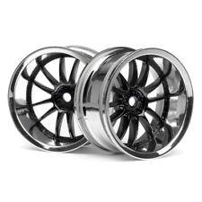HPI 3288 Work Xsa Wheels 26mm Chrome/Black 9mm Offset (2)