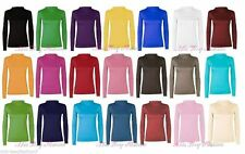 Viscose Polo Neck Fitted Tops & Shirts for Women