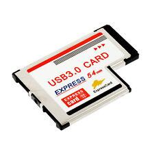 Express Card Expresscard 54mm to USB 3.0x2 Port Adapter UL